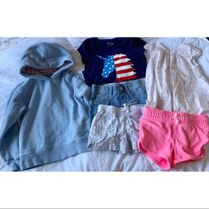 4t/5t Bundle shorts tops and sweatshirt